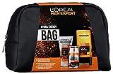 L'Oréal Men Expert Energy Bag, Geschenkset, für Männer gratis Kulturtasche, 24H Feuchtigkeitspflege (50 ml), Waschgel (100 ml) und Hydra Energy Duschgel (300 ml)