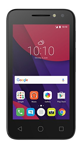 "Alcatel PIXI 4 - Smartphone, 4"", SIM doble, Android, MicroSIM, EDGE, GPRS, GSM, HSPA+, UMTS, Micro-USB, color negro/blanco"
