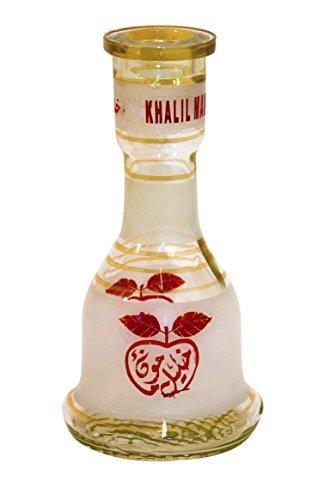 Khalil Mamoon Red Base de cristal para cachimba de Apple Shisha (30 cm)