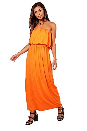 Damen Orange Petite Casey Bandeau-maxikleid Orange