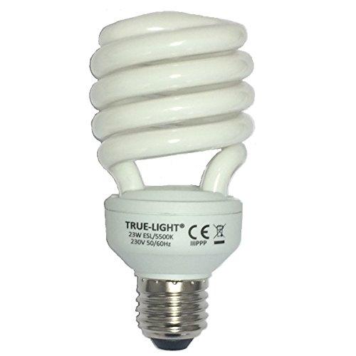 True-Light 23W – L'ampoule lumière du jour originale – Spectre complet 5500K IRC 95