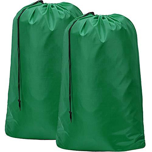 BGTREND - Bolsa de lavandería Extra Grande (2 Unidades, 71,1 x 101,6 cm), Lavable a máquina, Resistente Material antidesgarros con Cierre de cordón