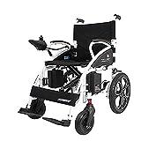 EMOGA Elektrischer Rollstuhl Multifunktionsfalte Elektrorollstuhl,Tragbarer Roller,Elektromagnetische Bremsen Und Handbremsen - Älterer Behinderter