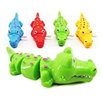 Teydhao Cute Cartoon Crocodile Wind Up Clockwork Educational Kids Wind-Up Animal Clockwork Floating Bath Time Baby Shower Water Play Swimming Pool Spring Toy for Girls Boys Toddlers - Random Color