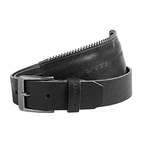 revit Gürtel Safeway 2 Motorradgürtel mit Verbindungsreißverschluß Biker Belt (85, Black)