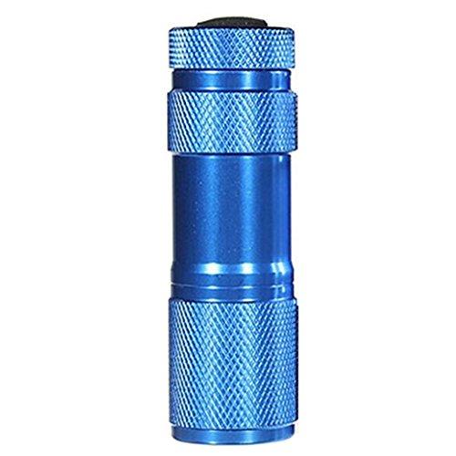 brussels08Mini 9LED UV UV LED Taschenlampe schwarz Licht Taschenlampe Tragbare Taschenlampe Licht Lampe Geld Detektor, Aluminiumlegierung, blau, xs