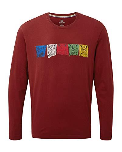 Long Sleeve Knit Tee (Sherpa Herren TARCHO Long Sleeve Tee T-Shirt, Potala Red, XL)