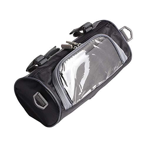 Borsa per parabrezza per bicicletta Borsa per manubrio per forcella Fornt per bicicletta con piccola borsa trasparente per touch screen e cinghie regolabili