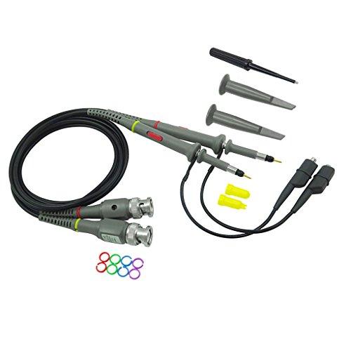 Price comparison product image MagiDeal P6100 2PCS Oscilloscope Probe Kit DC-100MHz Scope Clip Test Probe 100MHz For Tektronix HP X1/X10 sonda osciloscopio