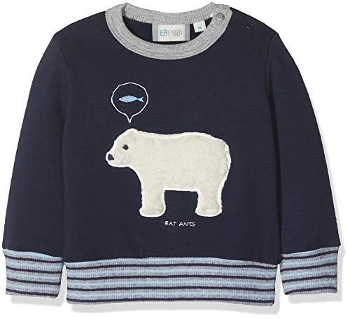 Sanetta Baby-Jungen Sweatshirt, Blau (Evening Blue 5683.0), 86