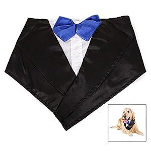 LHKJ Animaux Noeud Papillon Chien Collier,Chien Cravate Tuxedo Cravate Halloween Foulard Pet Dress Up Vêtements