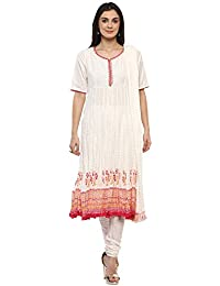Womens Round Neck Self Pattern Churidar Suit