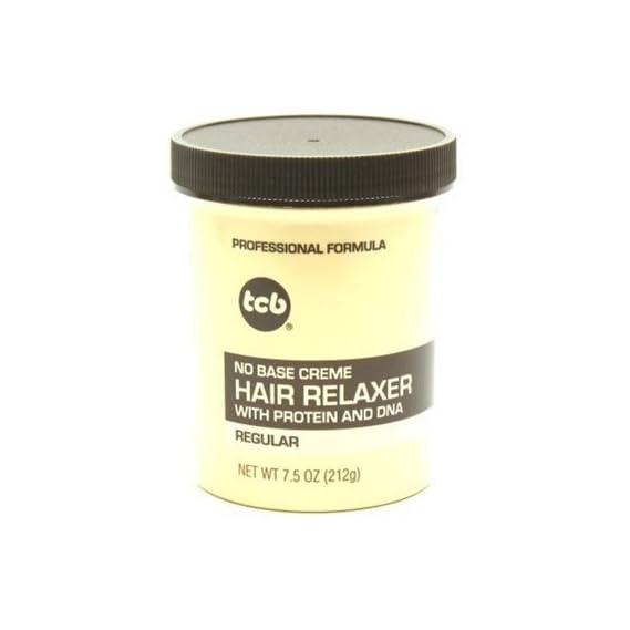 TCB No Base Hair Relaxer Creme, Regular, 7.5 Ounce