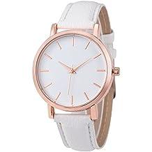 Relojes Pulsera Mujer, KanLin1986 De acero inoxidable analógico Cuarzo Reloj de cuero banda PU relojes