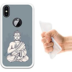 Funda iPhone X, WoowCase [ iPhone X ] Funda Silicona Gel Flexible Buda, Carcasa Case TPU Silicona - Transparente