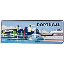 Ocean plates Crucero Mini–Portugal placa decorativa de metal 6,25x 16,50cm–Producto decorativo con partes de relieve