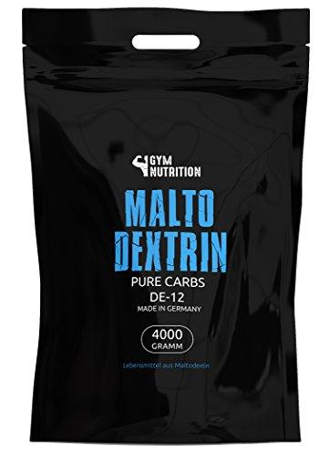 esn maltodextrin GYM-NUTRITION Hardcore Malto-dextrin | Feines Kohlenhydrate Pulver | Beliebt bei Fitness Powerlifing & Bodybuilding | Ideal für Hardgainer | Made in Germany | Maltodextrin 12 | 4 kg Beutel
