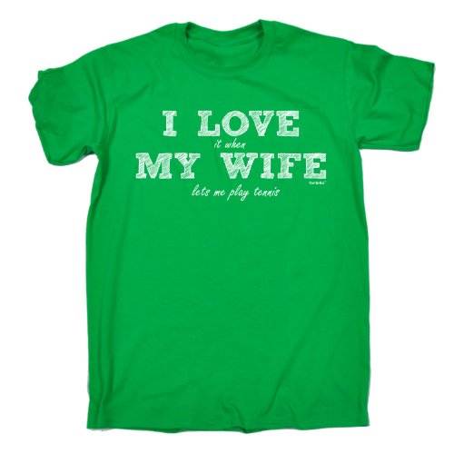 123t Men's - I LOVE IT WHEN MY WIFE LETS ME PLAY TENNIS - Loose Fit T-shirt
