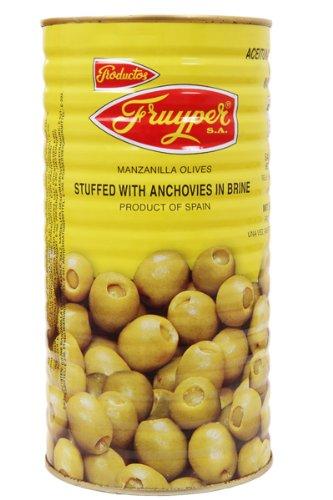 Oliven gefüllt mit Sardellenpaste / Aceitunas rellenas de anchoa - 1.4 Kgr