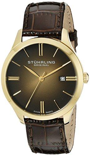 41FvNqj3WeL - Stuhrling Original Classic Gold Mens 490.3335K31 watch
