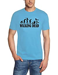 Coole-Fun-T-Shirts Herren T-Shirt Walking Dead Evolution Zombie