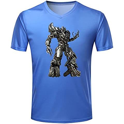Cartoon totem Transformers Men's V- Neck T-shirt Short sleeve
