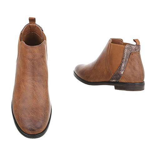 Blockabsatz Damenschuhe Design Boots Chelsea Chelsea Camel Blockabsatz Ital Boots Stiefeletten qOvxUw0
