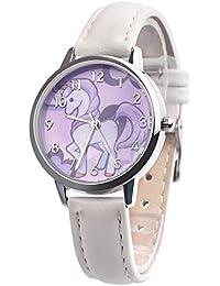 Souarts Reloj de pulsera, movimiento de cuarzo, analógico, diseño infantil de unicornio,