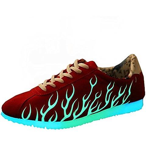KE Unisex resplandor de la noche Emisión de zapatos noctilucentes Deporte Estrella fluorescentes Zapatos