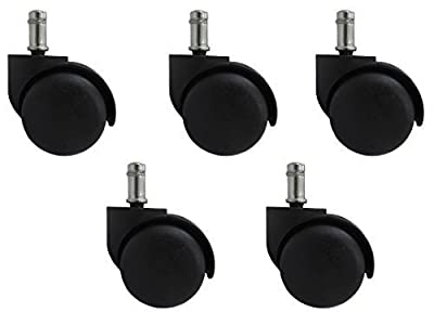 New 5 x 50mm Office Chair Swivel Castors Wheels Wide produced by BiMi - quick delivery from UK.