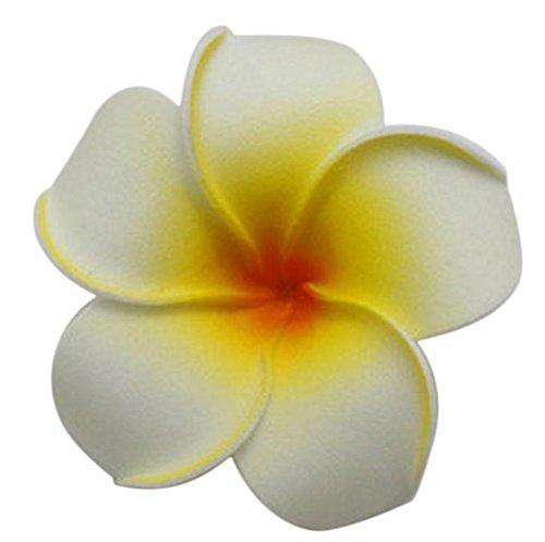 Demarkt Plumeria Haarklammern Blume Haar Clip DIY Haarschmuck Gelb 7cm