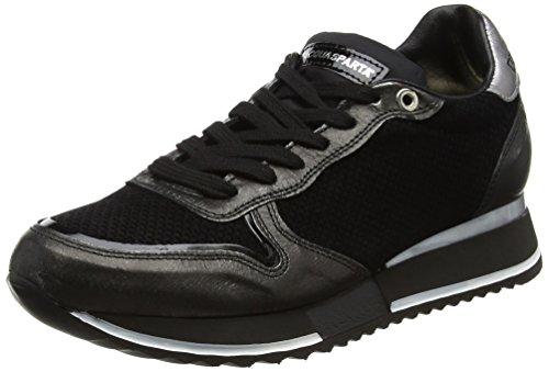 D'Acquasparta Damen Bianca Niedrige Sneaker, Schwarz, gebraucht kaufen  Wird an jeden Ort in Deutschland