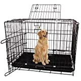 RvPaws Black Cage/Crate/Kennel with Removable Tray for Dogs/Cats,/Rabbit 36 inch (3 Feet)