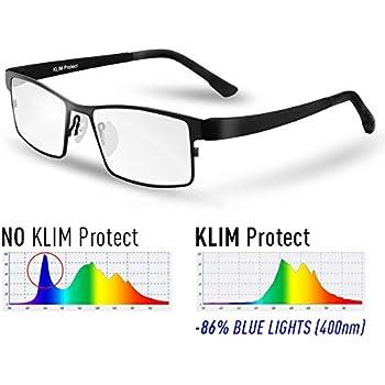 KLIM Protect - Lunette Anti Lumiere Bleue - Génération de Verres  Transparent - Protège Vos Yeux bc5d88de7852