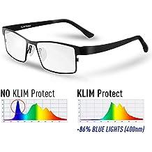 12cb9d68e7a1d8 KLIM Protect - Lunette Anti Lumiere Bleue - Génération de Verres  Transparent - Protège Vos Yeux