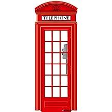 Oedim Photocall Cabina Telefónica de Londres 57x1,48cm | Decoración Ideal para Eventos o Celebraciones