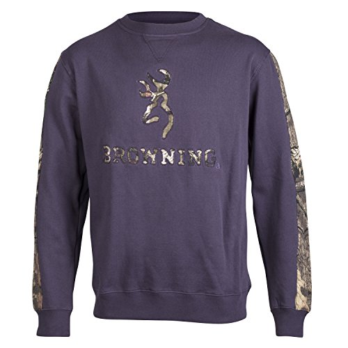 Browning Herren chesdin Crew Crewneck Sweatshirt Camo Nine Iron anthrazit, Herren, nine iron (Baumwolle Sweatshirt Browning)