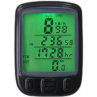 Cutowin - Velocímetro con Pantalla LCD Resistente al Agua para Bicicleta, con retroiluminación