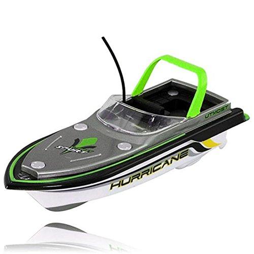 Wokee RC Boot,Neue gelbe Kunststoff Funkfernsteuerung Super Mini Fernbedienung Spielzeug High-speed Racing Boot Speed Boat Dual Motor Kid Spielzeug 218 (C)