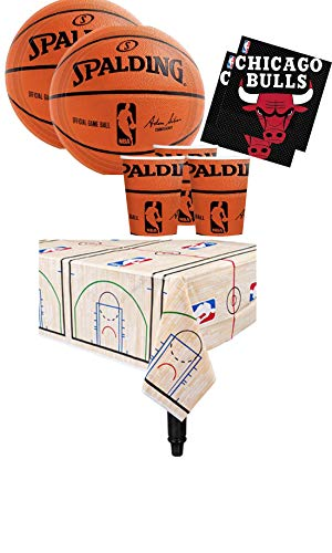 Am-scan kit n.16 accessori festa spalding basket nba party varie squadre (chicago bulls)