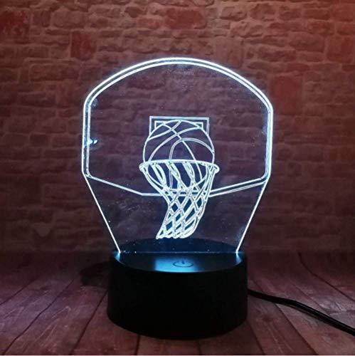Nachtlichtnight Light 3D Creative Shoot Basketball 7 Colors Changing Night Lights Table Lamp Decor Sleep Lighting For Sports Man Boy'S Love Gifts