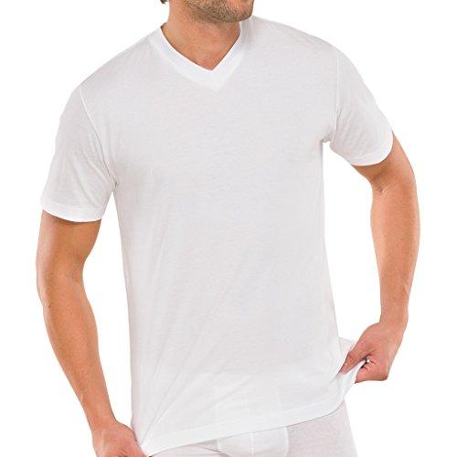 4 x Schiesser American T-Shirt Neu Shirt 1/2 Weiß
