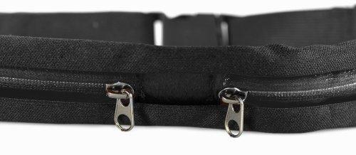 COM-FOUR® Gürteltasche Sport mit schwarzem Zippverschluss elastisch (Blau) Schwarz