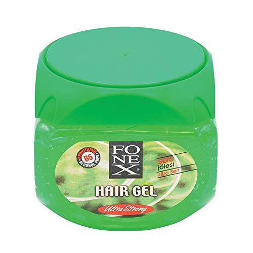 Fonex 1x Haargel ultra stark 500 ml alkoholfrei | Styling Hair Gel for men | Haargel für Männer ohne das Haar auszutrocknen