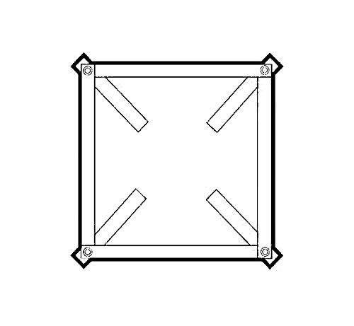 Grundrahmen für Dachventilatoren der Serie TR-Torrette, [Größe]:TR 100/150/180/210