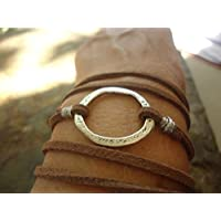✿ MARTILLADO anillo y brazalete wrap de gamuza ✿