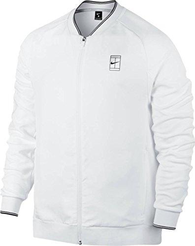 Nike M Nkct Jkt Baseline FZ Jacke für Tennis für Herren Weiß (White / Black)
