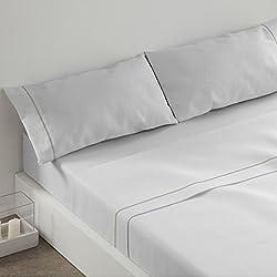 Burrito Blanco - Juego de sábanas Claro de Luna 241 para cama 90x190/200 cm, color blanco
