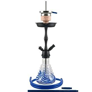 AMY 440 Stillness II Klick Shisha Wasserpfeife (Blau Schwarz matt)