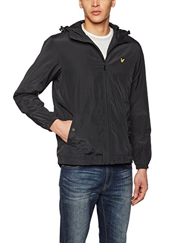 Lyle & Scott Herren Regenmantel Zip Through True Black